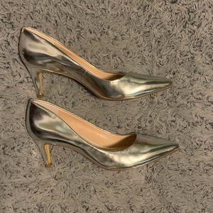 Banana republic silver short heels - US 7.5